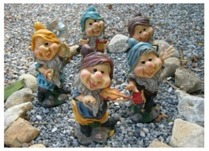 Bill and Dorothy's garden gnomes