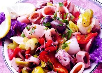 Chef´s Choice – Italian Style Calamari Salad – cyprusscene