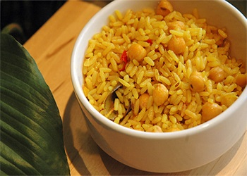 Rice Pilaf with chickpeas